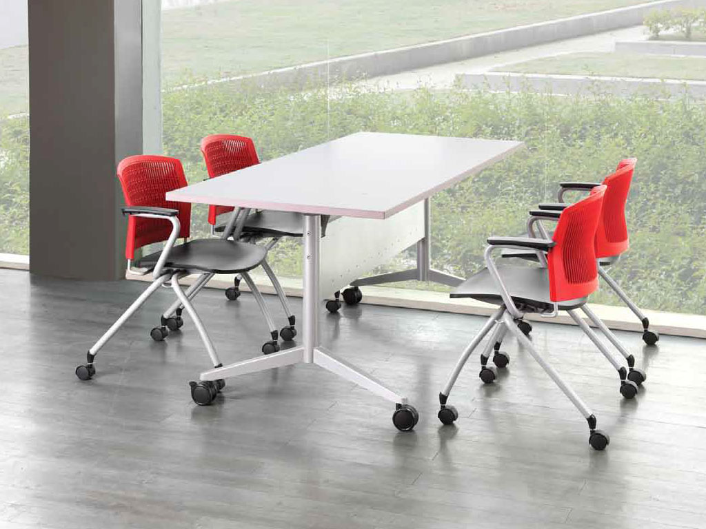 foldable office table. Folding Discussion Table Foldable Office B